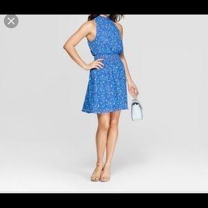 Target A New Day Blue Halter dress XXL